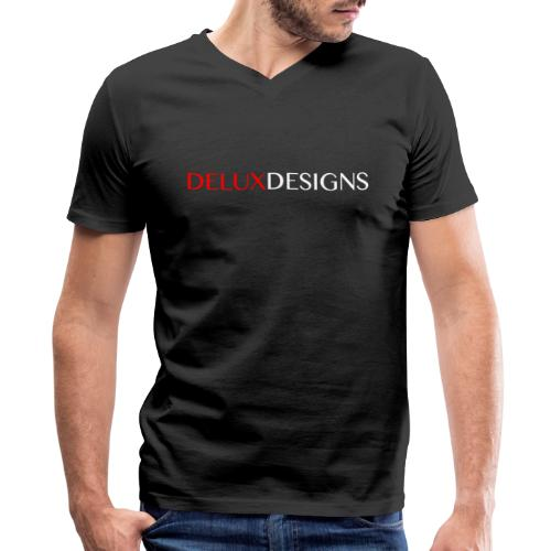 Delux Designs (white) - Men's V-Neck T-Shirt by Canvas