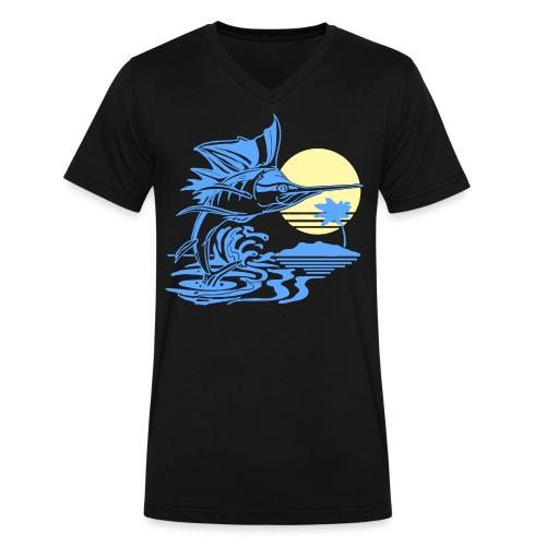 Sailfish - Men's V-Neck T-Shirt by Canvas