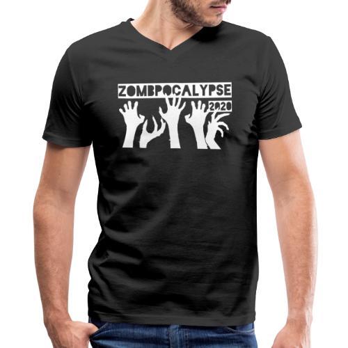 Zombpocalypse 2020 - Men's V-Neck T-Shirt by Canvas