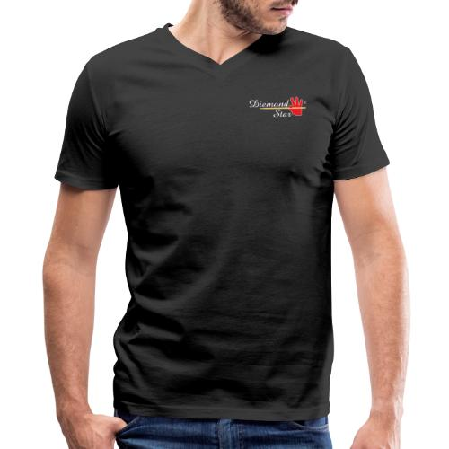 Diemond Star Logo White Font - Men's V-Neck T-Shirt by Canvas