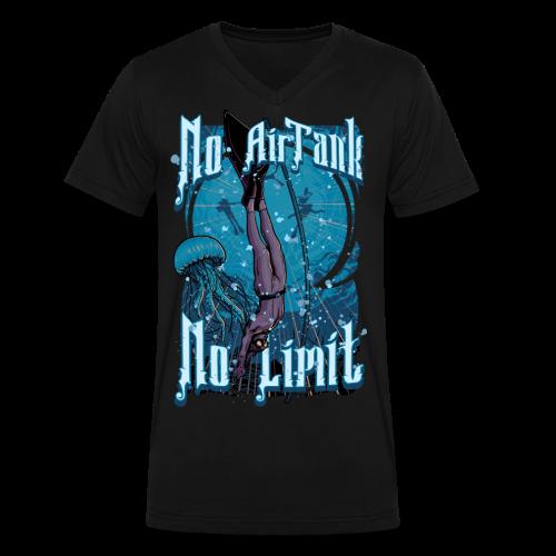 No Air Tank No Limit Freediving merchandise - Men's V-Neck T-Shirt by Canvas