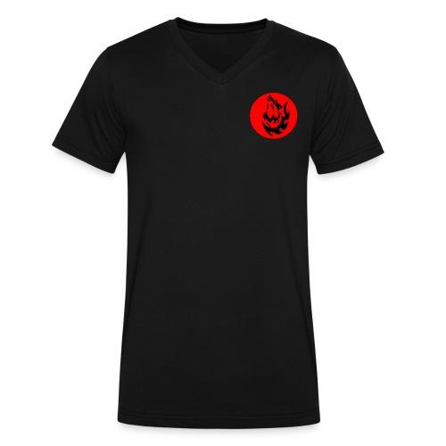 Wolf Logo - Men's V-Neck T-Shirt by Canvas