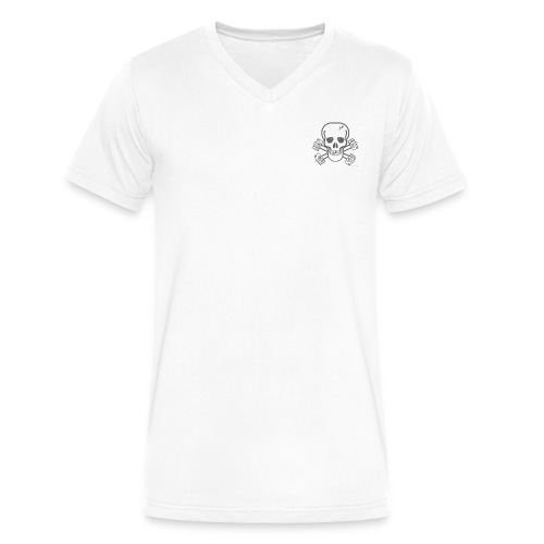 spreadshirtskullcrossbones - Men's V-Neck T-Shirt by Canvas