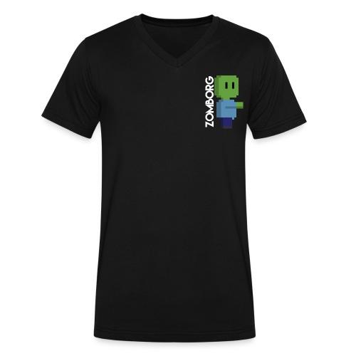 Minecraft Zombie Pixel art Mug - Men's V-Neck T-Shirt by Canvas