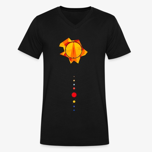 Solar Design (Vertical) - Men's V-Neck T-Shirt by Canvas