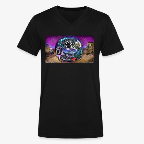 Mother CreepyPasta Land - Men's V-Neck T-Shirt by Canvas