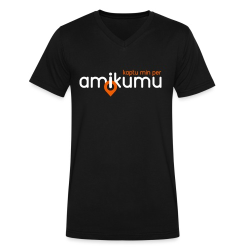 Kaptu min per Amikumu Blanka - Men's V-Neck T-Shirt by Canvas