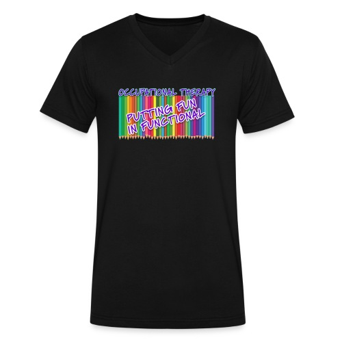 Occupational Therapy Putting the fun in functional - Men's V-Neck T-Shirt by Canvas
