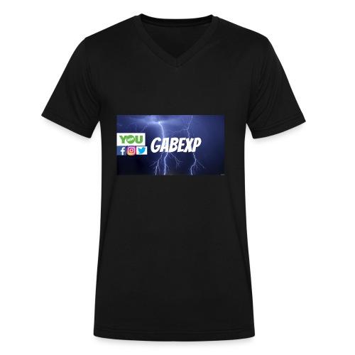 gabexp 1 - Men's V-Neck T-Shirt by Canvas