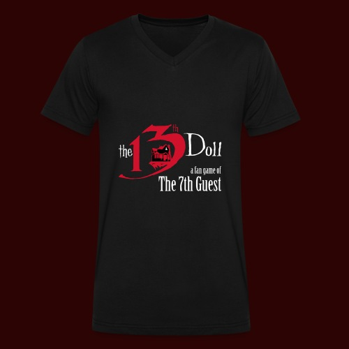 The 13th Doll Logo - Men's V-Neck T-Shirt by Canvas