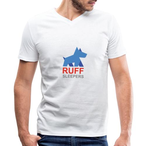 ruffsleepers logo 01 - Men's V-Neck T-Shirt by Canvas