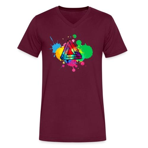 PAINT SPLASH - Men's V-Neck T-Shirt by Canvas