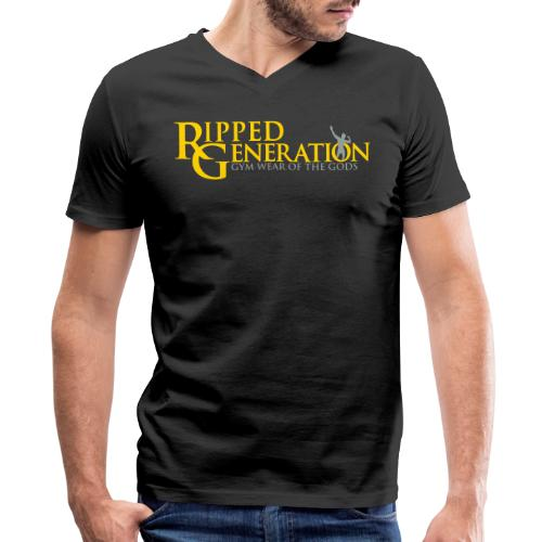 Ripped Generation Logo Gold - Men's V-Neck T-Shirt by Canvas