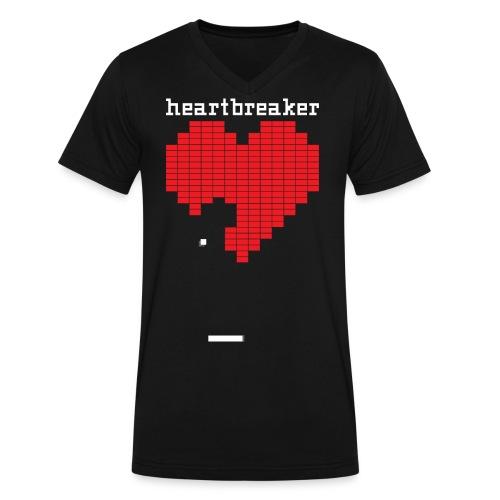 Heartbreaker Valentine's Day Game Valentine Heart - Men's V-Neck T-Shirt by Canvas