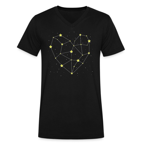 Heart in the Stars - Men's V-Neck T-Shirt by Canvas