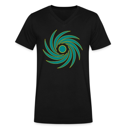 Whirl - Men's V-Neck T-Shirt by Canvas