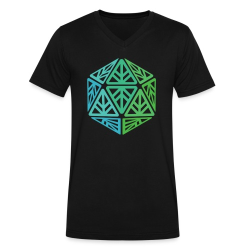 Green Leaf Geek Iconic Logo - Men's V-Neck T-Shirt by Canvas