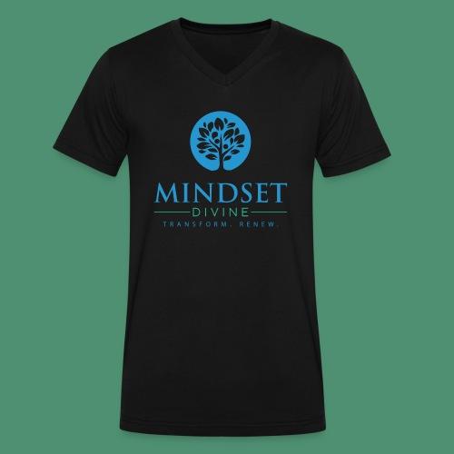 Mindset Divine logo 01 - Men's V-Neck T-Shirt by Canvas