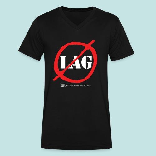 No Lag (white) - Men's V-Neck T-Shirt by Canvas