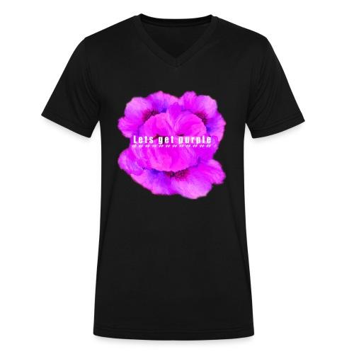 lets_get_purple_2 - Men's V-Neck T-Shirt by Canvas