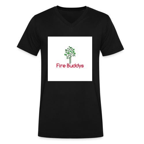 Fire Buddys Website Logo White Tee-shirt eco - Men's V-Neck T-Shirt by Canvas