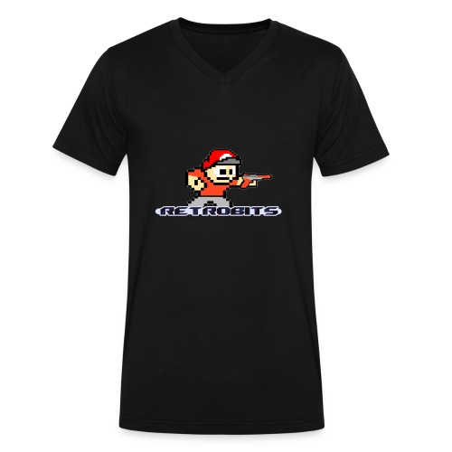 RetroBits Clothing - Men's V-Neck T-Shirt by Canvas