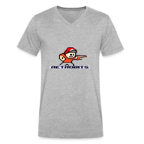 RetroBits Clothing - Men's V-Neck T-Shirt by Canvas