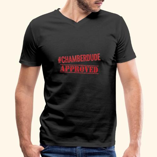 Chamber Dude Approved - Men's V-Neck T-Shirt by Canvas
