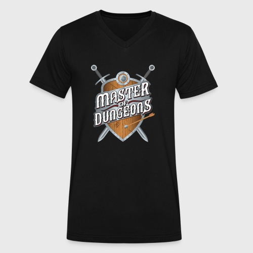 master of dungeons shield and swords fantasy gift - Men's V-Neck T-Shirt by Canvas