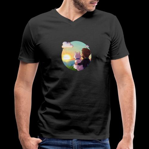 xBishop - Men's V-Neck T-Shirt by Canvas