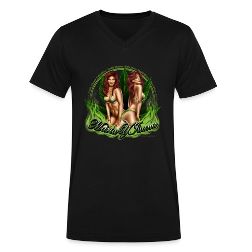 Maria y Juana by RollinLow - Men's V-Neck T-Shirt by Canvas