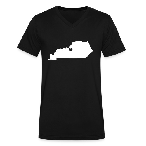 Kentucky Silhouette Heart - Men's V-Neck T-Shirt by Canvas