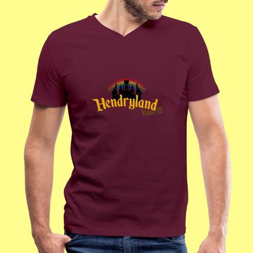 HENDRYLAND logo Merch - Men's V-Neck T-Shirt by Canvas