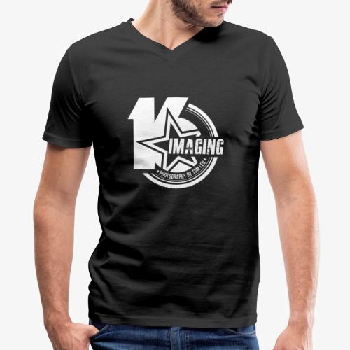 16IMAGING Badge White - Men's V-Neck T-Shirt by Canvas