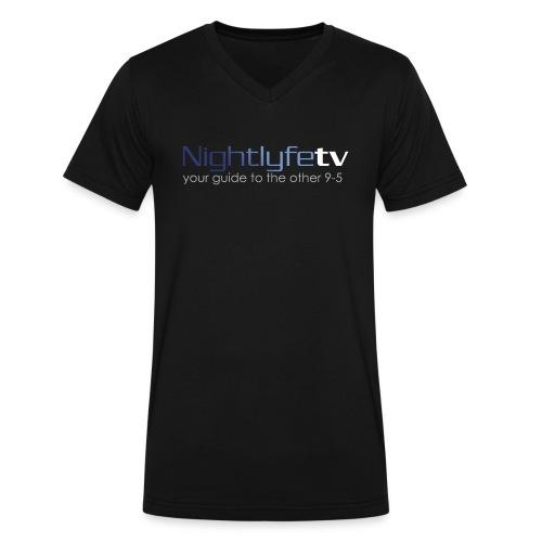 NTV Logo Full - Men's V-Neck T-Shirt by Canvas