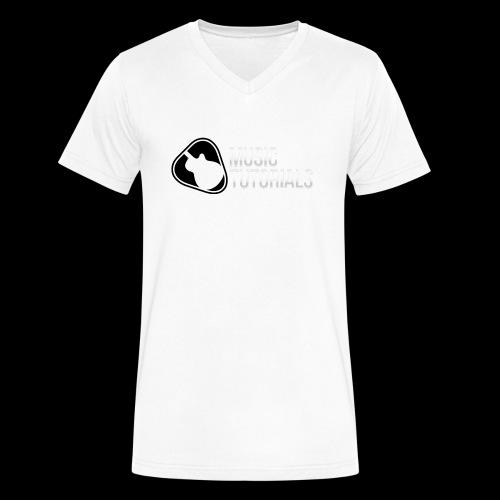 Music Tutorials Logo - Men's V-Neck T-Shirt by Canvas