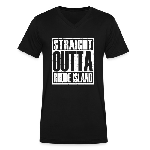 Straight Outta Rhode Island - Men's V-Neck T-Shirt by Canvas