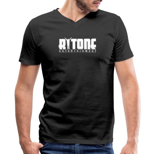Rytone Logo White - Men's V-Neck T-Shirt by Canvas