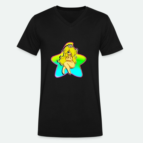 THICC ROSA - Men's V-Neck T-Shirt by Canvas