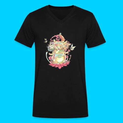 Contraption Brahma Neko - Men's V-Neck T-Shirt by Canvas