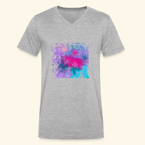 Abstract - Men's V-Neck T-Shirt by Canvas