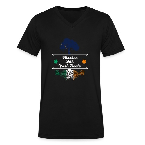 ALASKAN WITH IRISH ROOTS - Men's V-Neck T-Shirt by Canvas