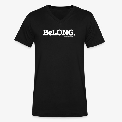 BeLONG. @jeffgpresents - Men's V-Neck T-Shirt by Canvas