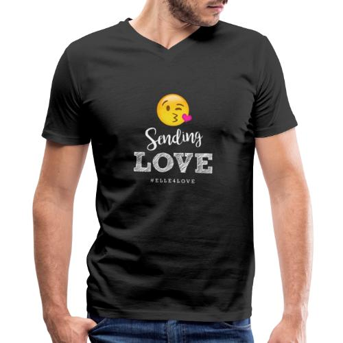 Sending Love - Men's V-Neck T-Shirt by Canvas