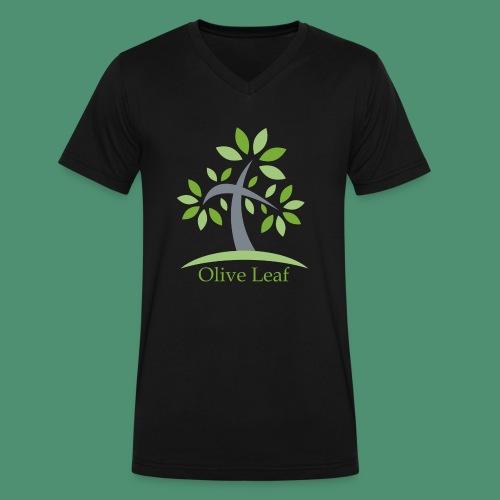 Olive Leaf - Men's V-Neck T-Shirt by Canvas