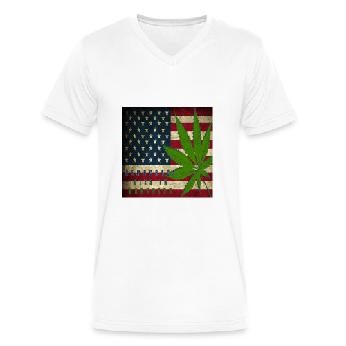 Political humor - Men's V-Neck T-Shirt by Canvas