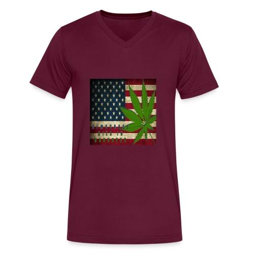 Political humor - Men's V-Neck T-Shirt by Canvas