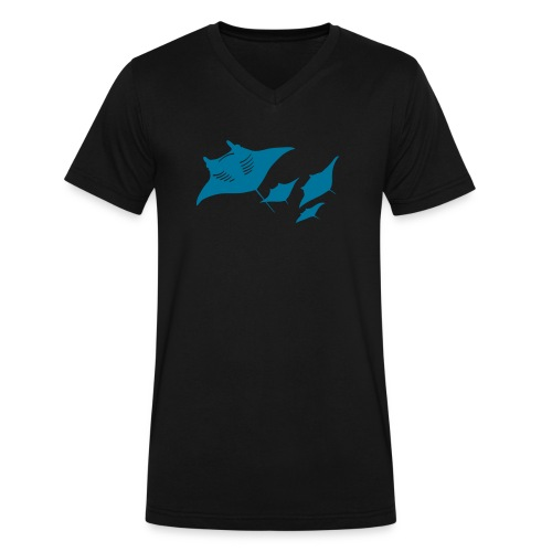 manta ray sting scuba diving diver dive - Men's V-Neck T-Shirt by Canvas