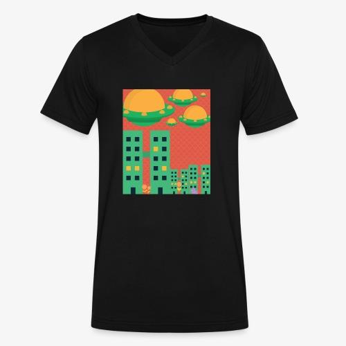 wierd stuff - Men's V-Neck T-Shirt by Canvas