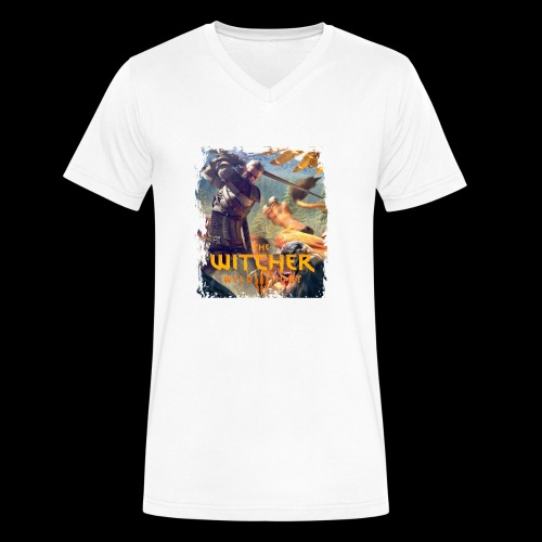 The Witcher 3 - Griffin - Men's V-Neck T-Shirt by Canvas